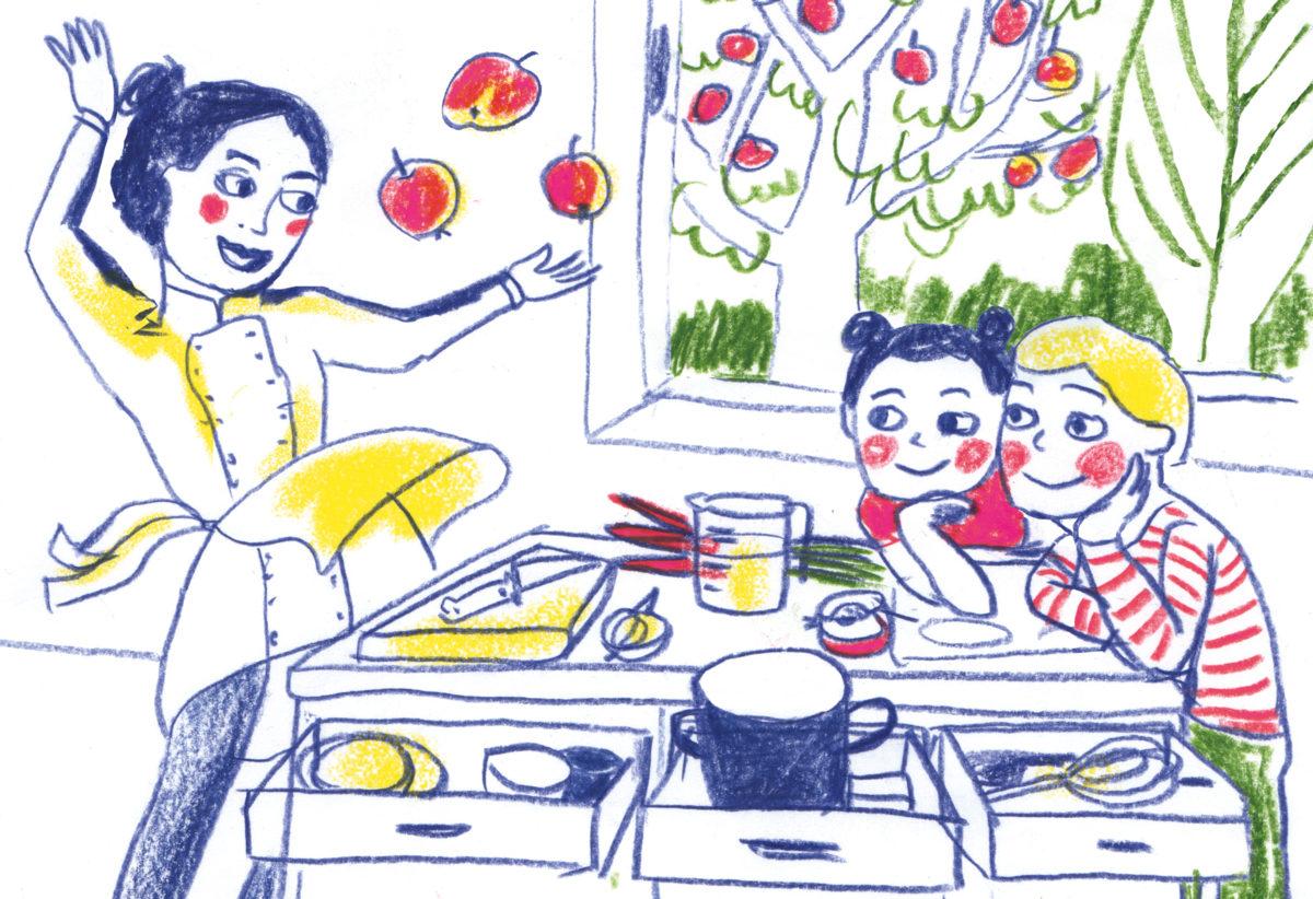 Kochen für Kinder Illustration von Franziska Ludwig